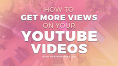 Here are 5 ways on how to get more views on YouTube videos. Few pointers to help build your viewership and get more subs to your channel.