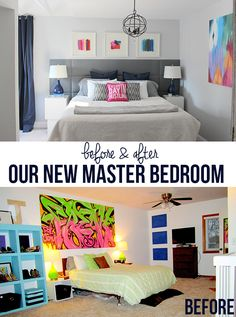 Master Bedroom Before and After | Home Coming Blog. #bedroom #redecorate