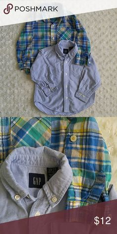 Bundle of two button down shirts Chambray from GAP and plaid from Cherokee. Good condition. Gap Shirts & Tops Button Down Shirts