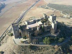 Vista aérea del Castillo de Almodóvar del Río, Córdoba, España. Almodovar Castle aerial view, Almodóvar del Río, Cordoba, Spain #Castles #Spain