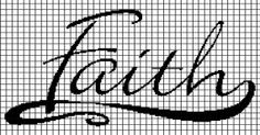 Faith Crochet Graphghan Pattern (Chart/Graph AND Row-by-Row Written Instructions)
