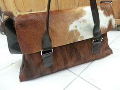 KUHIE - Kuhfell Tasche im Kelly Bag Style in braun von Gmischtesach:  Die Tasche mit der Kuh !! auf DaWanda.com