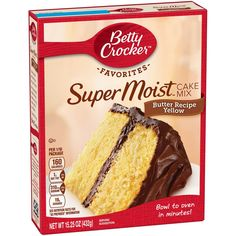 Betty Crocker Yellow Cake Mix As always - pudding in the mix! Each Betty Crocker product promises delicious homemade taste every time. Moist Yellow Cakes, Yellow Cake Mixes, Moist Cakes, Cake Mix Pancakes, Cake Mix Cookies, Crinkle Cookies, Spice Cupcakes, Cake Mix Recipes, Dessert Recipes