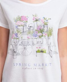 Spring market T-shirt - View All - Autumn Winter 2016 trends in women fashion at…