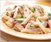Dreamfields Pasta's Penne and Chicken with Garlic Cream Sauce