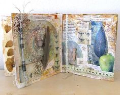 "rivergardenstudio: "" what still remains pages from my ""Be the Light"" book roxanne evans stout "" Artist Journal, Artist Sketchbook, Art Journal Pages, Art Journals, Visual Journals, Art Journal Inspiration, Journal Ideas, Junk Journal, Fabric Art"