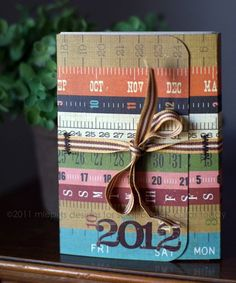 Year in review according album using Simple Stories Yearography line - love this!