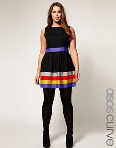 ASOS CURVE Exclusive Dress With Ribbon Trim  $73.40