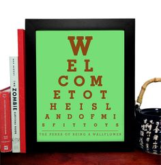 Of being a wallflower welcome to the island of misfit toys eye chart