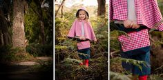 reversible cape, 3/4 pant, gumboots   all available from missy melly