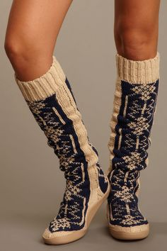 "Gypsy 05  Snowflake 26"" Knit Boot"