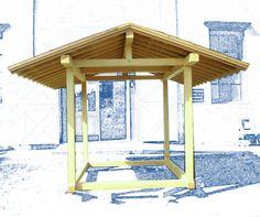 Gazebo timber post and beam Japanese Carpentry . HTTP://Proudlandscape.com