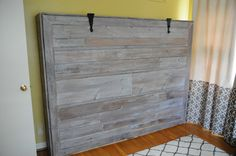 Rustic Queen Sized Wall Bed   Do It Yourself Home Projects from Ana White