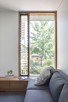Specialists in sustainable architecture in Melbourne including Yarraville, Seddon, Brunswick, Coburg and Northcote. Louvre Windows, Living Spaces, Living Room, Interior Decorating, Interior Design, Window Design, Minimalist Home, Beautiful Interiors, Home And Living