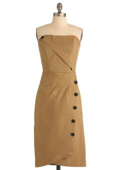 Backstage Jitters Dress in Caramel, #ModCloth. I like that it is an updated vintage look. so cute