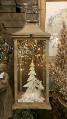 Beautiful christmas decoration ideas in white vintage (1)