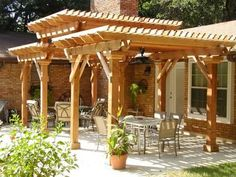 Tri level pergola | This beautiful tri-level pergola is an example of what your outdoor ...