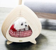 Fluffy and the Whale: Minimalist Fishbone House for Pets - http://www.decorationarch.com/decoration-ideas/fluffy-and-the-whale-minimalist-fishbone-house-for-pets.html