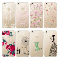 Soft TPU Case for Huawei Honor 8 Case Ultra Slim Clear Flexible Silicone Protective Back Cover for P8 Lite 2017 5A Mate 9 Case