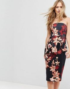 Forever New Structured Midi Dress with Tie
