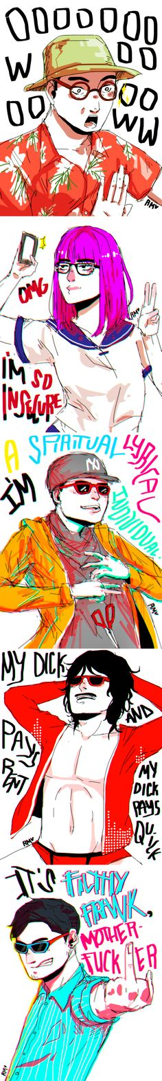 Filthy Frank Characters Doodle 2 by mikkie12 - this is great! Kudos on whoever drew this