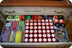 spice organization, przyprawy organizacja, szuflady