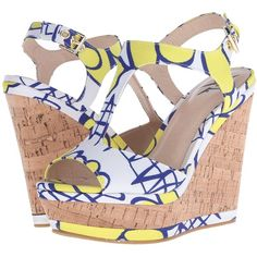 LFL by Lust For Life Lana (Yellow Multi) Women's Wedge Shoes (2,995 INR) ❤ liked on Polyvore featuring shoes, sandals, yellow, yellow wedge sandals, platform sandals, high heel shoes, wedge shoes and wedge sandals