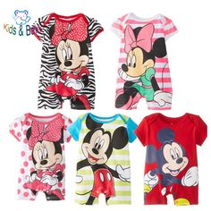 Baby&Kids Short Sleeve Mikey Minnie Cartoon Baby Romper Baby Girl Cute Clothes Infant Newborn Baby Custume Jumpsuits Clothing #>=#>=#>=#>=#> Click on the pin to check out discount price, color, size, shipping, etc. Save and like it!