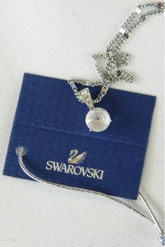 #Swarovski #Crystal #RoundCut #Solitaire #Pendant - The Freperie