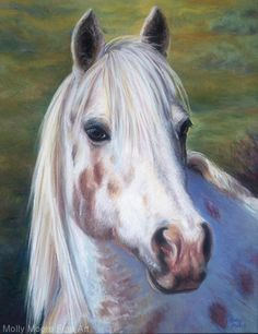 Ponypants, Angel Gone Home by Molly Moore Pastel ~ 14 x 11