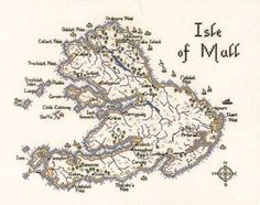 Isle of Mull Map Cross Stitch Kit By Heritage Crafts