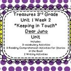 Dear Juno Vocab Third Grade Treasure's Series Unit 1 Week 2