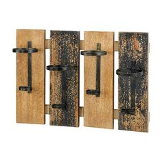 This unique and rustic wall-mounted wine rack will attract a lot of attention, and not just because it holds your favorite wine! Four wooden slats mount to your wall and feature simple metal wine h. Bottle Wall, Wine Rack Wall, Wine Wall, Wine Glass Holder, Wine Bottle Holders, Wall Racks, Wine Bottles, Wood Wine Holder, Rustic Wine Racks