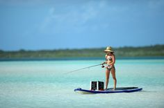 Fishing from your paddle board is the best. #SUPFishing #PaddleBoardFishing #WomenSUP. Check out fishing SUPS: http://www.waterwaysup.com/sup-fishing