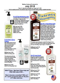 J.R Watkins July Specials - See what's new and on sale including an amazing deal - 20% off selected full-size extracts! Download your Canadian or USA flyer today!   http://naturalproductsonline.ca/Sales-Flyers-Canada-USA.html