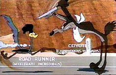 Once...just ONCE, wouldn't you like to see Wile E. Coyote get the Roadrunner????
