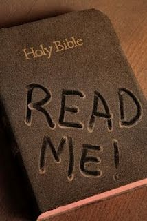Don't let your Bible get dusty - take it off the shelf, and read it.   Great words of wisdom!