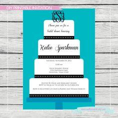 Wedding Cake Bridal Shower Invitation  Digital by SouthernSwish, $15.00