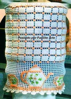 Facilite Sua Arte: Jogo de cozinha - 2 - Capa para garrafão
