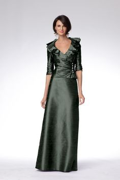 Mother of the bride gown, very classy and elegant and I love the colour.