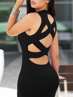 Adyce 2017 Sexy Women Bandage Dress White Red Black Sleeveless Dress Vestidos Back Hollow Out Celebrity Evening Party Dresses Tight Dresses, Sexy Dresses, Beautiful Dresses, Evening Dresses, Fashion Dresses, Party Dresses, Sleeveless Dresses, Homecoming Dresses, White Bandage Dress