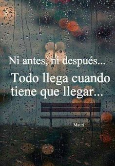 todo llega cuando tiene que llegar. everything comes when it has to arrive. Fact Quotes, Words Quotes, Wise Words, Me Quotes, Funny Quotes, Qoutes, Positive Phrases, Motivational Phrases, Positive Vibes