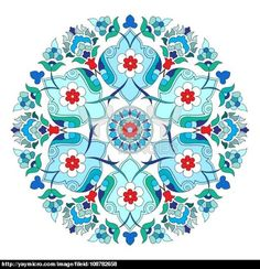 artistic ottoman pattern series twelve