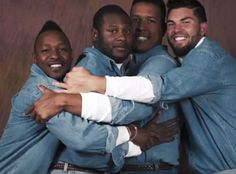 The Kansas City Royals Look Amazing in All-Denim Awkward Family Photos | E! Online Mobile