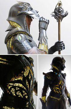 High Fantasy Armor Set : Damnthatsinteresting Source by ideas fantasy Medieval Combat, Medieval Armor, Medieval Fantasy, Fantasy Inspiration, Character Design Inspiration, Costume Armour, Armor Clothing, Mode Costume, Armadura Medieval