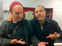 Two of punks finest...Ian McKay and Mike Ness....