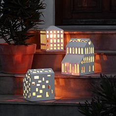 Kähler Design Dänemark - Windlicht Lichthaus URBANIA H260 - Weihnachten Advent