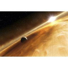 Artists concept of the star Fomalhaut and a Jupiter-type planet Canvas Art - Stocktrek Images (34 x 23)