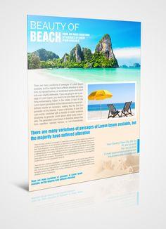 Flyer On Beach