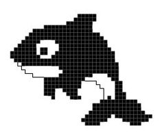 Idea Kristik: Pola Kristik Gratis : Orca